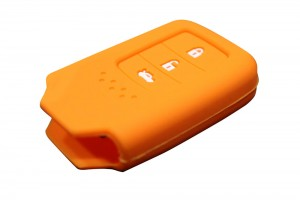 3 Button Smart Key Silicone Orange Cover For New Honda City (2014+)