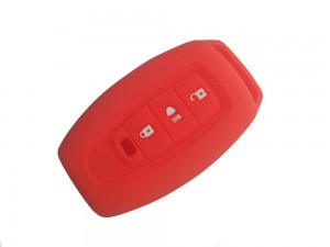 3 Button Smart Key Red Silicone Cover Fit For Tata Safari Storme/Aria