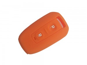 2 Button Smart Key Orange Silicone Cover Fit For Tata Manza / Vista / Indigo