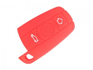 3 Button Smart Key Red  Silicone Cover Fit For BMW 3