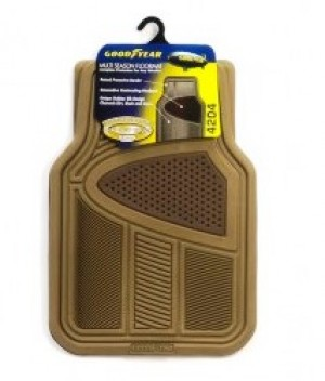 Goodyear® Floor Rubber Mat Premium Carpet Beige - 5pc (4204)