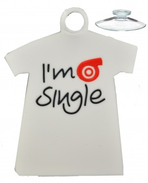 Waterproof soft PVC silicone rubber sticker (I Am Single)