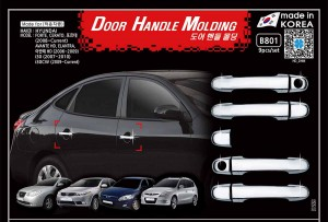 Auto Clover Chrome Door Handle Molding 9Pcs For HYUNDAI i20