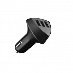 3 USB 4.2A High Quality Aliens Port Car Charger RCC304 - Black