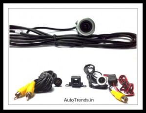 2 in 1(Silver Color)Waterproof Car Rear View Night Vision Reverse Parking Camera.