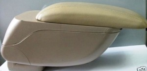 AutoTrends Universal Car Center Console Arm Rest / Hand Rest in Beige Color