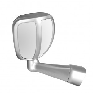 Side Wing Fender 2 View Mirror Blind Spot Toyota Fortuner, Endeavour etc -SILVER