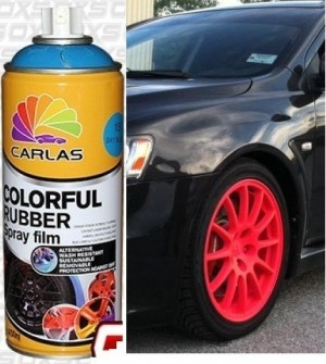 Fluorescent Red Plasti Paint 400ml Spray Can Rubber coating / Removable Paint