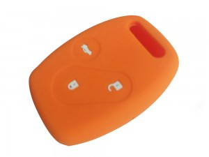 3 Button Smart Key Silicone Orange Cover Fit For Honda Accord