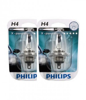 Philips - Extreme X-treme Vision Car Headlight Bulbs Bulb H4 60/55W