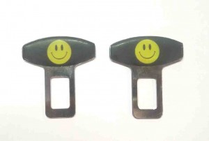 Smiley Face Universal Seat Belt Clip (Set of 2pcs)