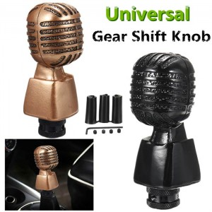 GOLD Universal Microphone Mic Manual Gear Shift Knob Auto Car