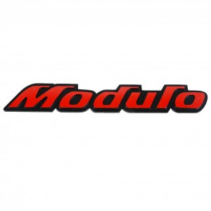 "Car 3D ""MODULO"" Logo Aluminium Alloy Metal Emblem Badge Sticker Decal Red New"