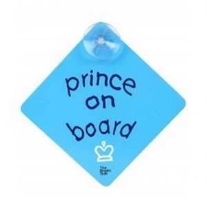 Safety Car window Sign (Bumper Sticker)Prince On Board