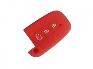 3 Button Smart Flip Key RED Silicone Cover Fit For Hyundai Verna Fluidic / Old i20 / Santafe
