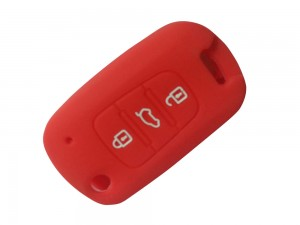3 Button Smart Flip Key Red Cover Fit For Hyundai I20 Old