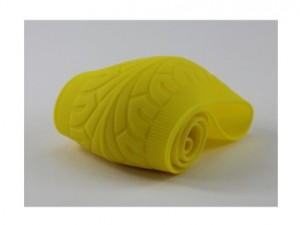 Yellow Tyre Design Soft Silicone Car Auto Steering Wheel Cover
