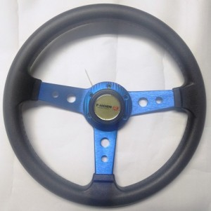 "Car ""Formula ONE"" BLUE F-1 Sport Steering Wheel."