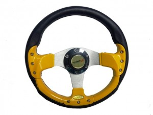 "Car ""Formula ONE"" YELLOW F-1 Sport Steering Wheel"