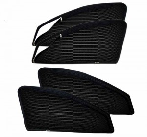 FUJI Volkswagen Vento Tailored Cut Zipper Magnetic Sun Shades Car Curtain Pack Of 4pcs